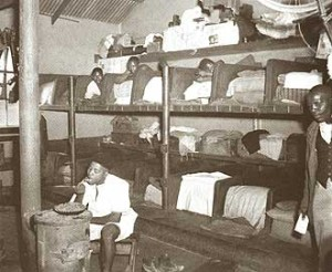 Poor housing conditions contributed to miners developing TB