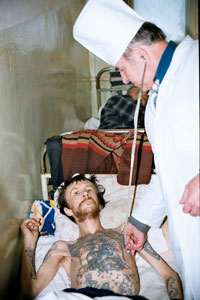 Patient being treated for Multi Drug Resistant TB in a Russian prison