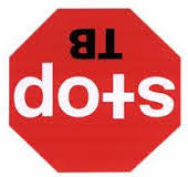 Upside down DOTS sign