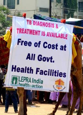 Free TB treatment is available at all government health centres in India