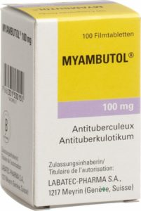Myambutol, a drug used to treat tuberculosis