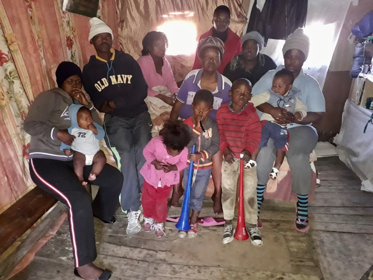 12 people living in one room in an informal settlement. Ideal conditions for the spread of TB&#169 NombuleloDambaHendrick Groundup