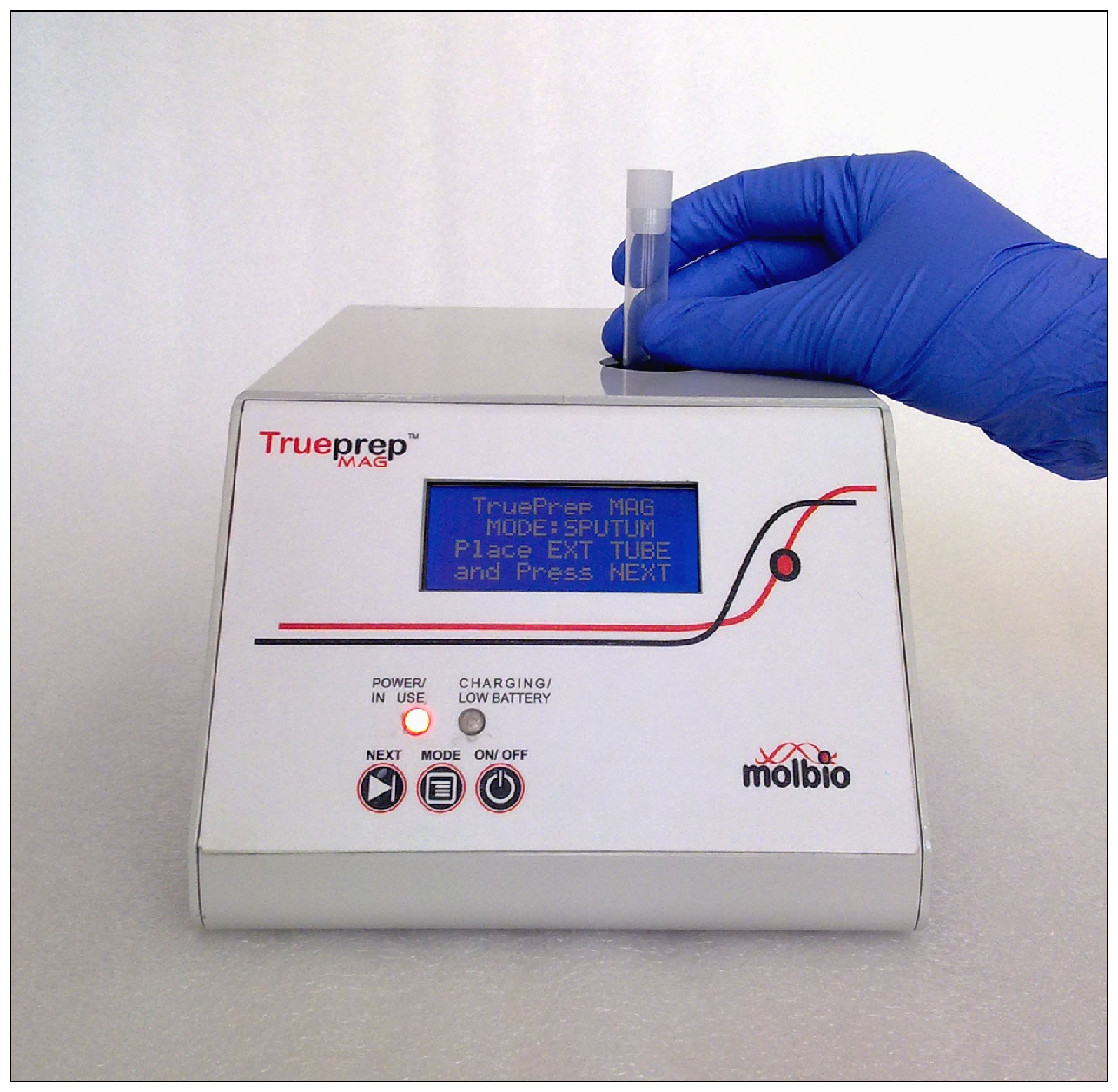 Sample loading for diagnosis of MTB using Trueprep-MAG device (TrueNat)