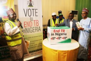 Minister of health Professor Isaac Adewole marks World TB day