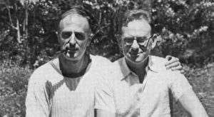 Jorgen Lehmann visiting Frederick Bernheim (left) in North Carolina in 1949