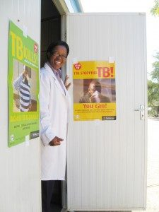 A nurse in Botswana prepares to educate patients about TB © CDC Botswana