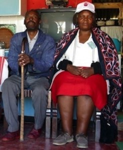A patient with drug resistant TB, and their DOTS supporter in South Africa